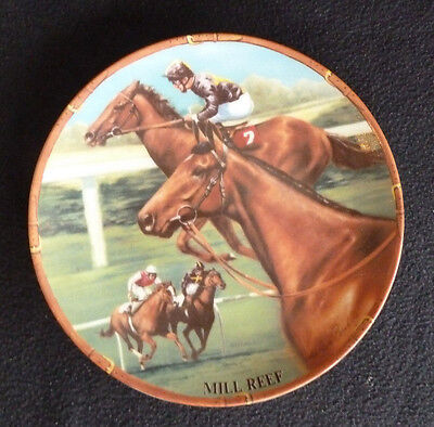 Royal Worcester China Collectors Plates Great Racehorses Mill Reef Horse Racing