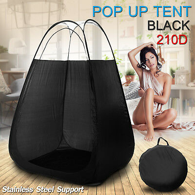 Pop Up Spray Tanning Tent Black Tan Booth Mobile Fake Solar Portable With Bag