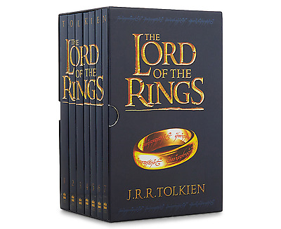 The Lord of the Rings Trilogy Books by J R R Tolkien 7 Book Box Set Slipcase New