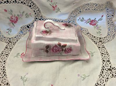 OLD FOLEY James Kent - Covered Butter / Cheese Dish  ROSES