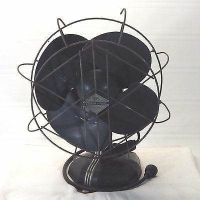 Vintage Robbins & Meyers Art Deco Multi Speed Oscillating Electric Fan #20687