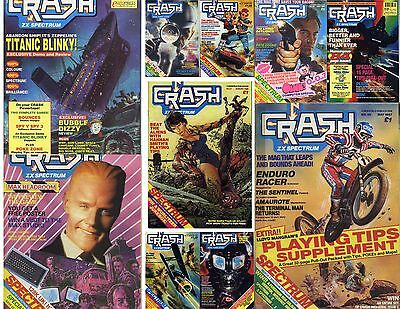 Crash Magazine + ZX Computing Mags. Total of 138 Issues, as PDF's on Data Disc.