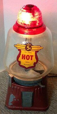 Vintage Working Electric Red Light Hot Peanut Machine