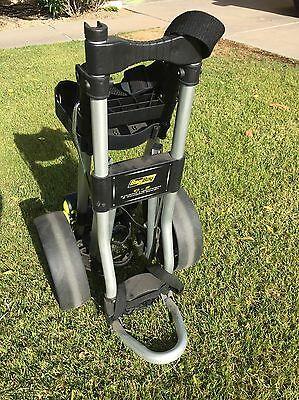 BAG BOY C-5 GOLF BLACK/SILVER ROLLING PUSH PULL GOLF CART collapsible/ compact