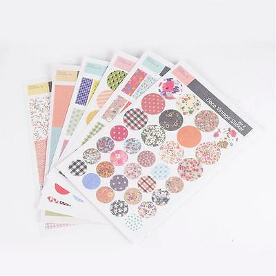 Vintage Deco Stickers for Card Making Scrapbooking and Crafts 6 Sheets