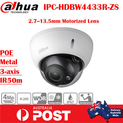 Dahua IPC-HDBW4431R-ZS H.265 4MP 2.8-12mm AutoFocus Motorized Lens IP POE Camera