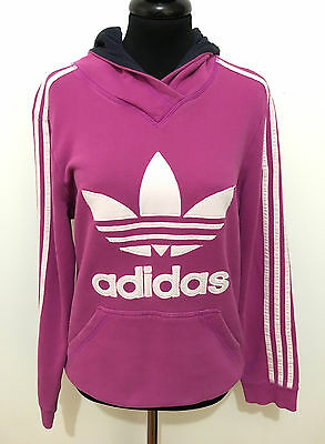ADIDAS VINTAGE '80 Felpa Cppuccio Donna Cotton Woman Hodeed Sweater Sz.M - 44