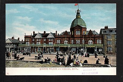 Rhyl - Queen's Palace and Arcade - colour printed postcard