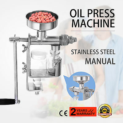 Manual Oil Press Machine Oil Extractor Stainless Steel Kitchen Tool Oil Expeller