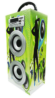 Altavoz Portatil Torre Caja Mando Mp3 Bluetooth Usb Sd Radio Line In