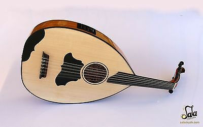 Turkish Professional Half Cut Electric Oud Ud String Instrument AOH-370T