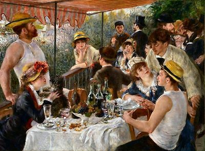 Pierre-Auguste Renoir Luncheon of the Boating 1871 Painting Fine Art Print A3 A4