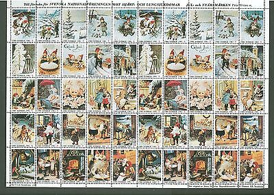 J Sheet A14 Sweden 1980/81 no Postage Stamps Christmas