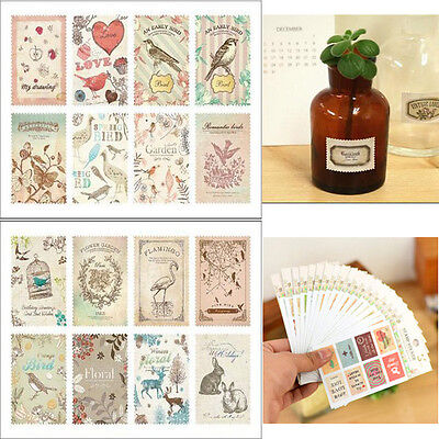 Vintage Stamp Diary Album Notebook Decoration Sticker Scrapbook Paper For Phone