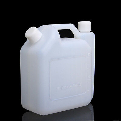 1 Litre 2-Stroke Oil Petrol Fuel Mixing Bottle For Chainsaw Trimmers 50:1 25:1