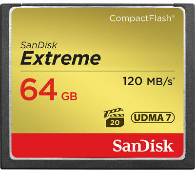 SANDISK Extreme 120 Compact Flash Memory Card - 64 GB - Currys