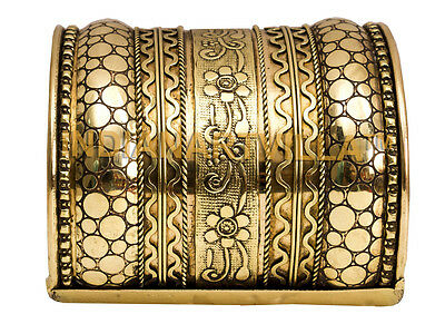 Brass Rare Designer Openable  Bracelete|Traditional Collection|Width 7.5 Cms