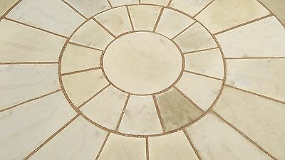Stone Concrete Circle Patio Paving Set 1.8m Cotswold Stone