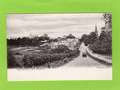 Uppingham from Redhill pc used 1904 Square Circle Postmark Ref C193