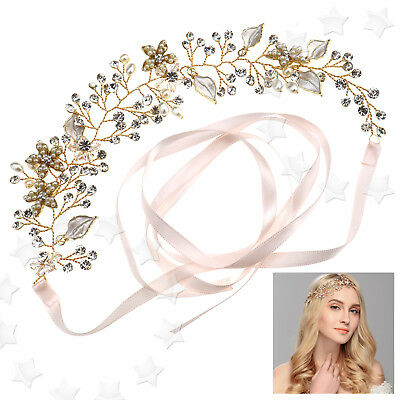 Elegant Bridal Women Flower Diamante Rhinestone Headband Hair Headpiece AU Stock
