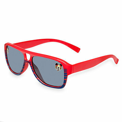Disney Store Red Racing Mickey Mouse Boys Kids Sunglasses 100% UV Protection NEW
