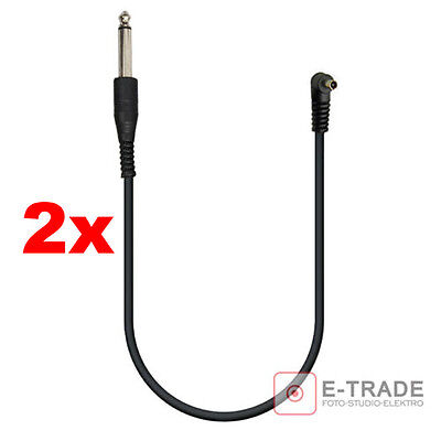 2pcs // 30cm - SYNC CORD cable / PC -> 6.3mm Plug Jack / for Trigger flash
