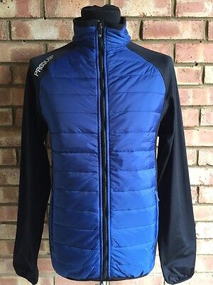 Proquip Therma Tour Jacket Full ZIP Quilted INSULATED Jacket BLUE/BLK Small