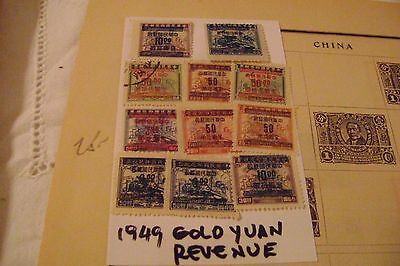 China-(1888-1949)-17-Stamps On 1-Album Page From Old Time Collection-Used&mint