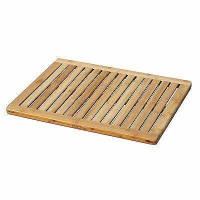 Bamboo Mat Shower Floor Wooden Bath Non Slip Safety Water Resistant Oceanstar