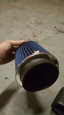"large induction filter with 5"" inlet size"