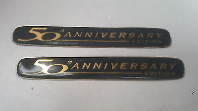 HOLDEN COMMODORE 50th Anniversary Edition   Plastic Car Badges