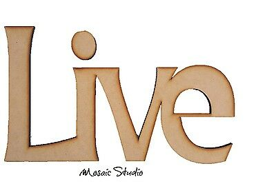 LIVE - Wooden Cut-out - 400x240mm