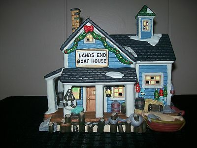 Dickens Collectables Towne Series Lands End Boat House 1997
