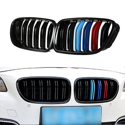 1 Pair of Kidney Racing Grille Double line for BMW F10 F11 F18 5 Series M5 10-14