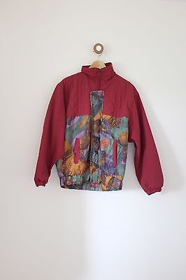 Vintage 80's/90's festival crazy print quilted summer jacket