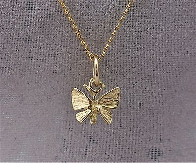 "9ct Solid 3D Yellow gold charm ""Butterfly"" RRP $49.00"
