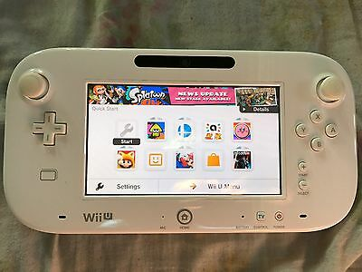 Official Genuine Nintendo Wii U Gamepad Uk Pal Ideal Replacement White