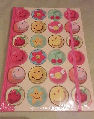 Carnet/notebook rose et smileys - 96 pages - format A5 - Smiley World - Neuf