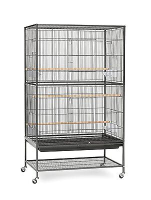Prevue Pet Products Wrought Iron Flight Cage with Stand F040 Black Bird Cage,