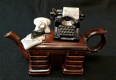 Cardew Design Teapot Crime Writer's Desk Mini 4""
