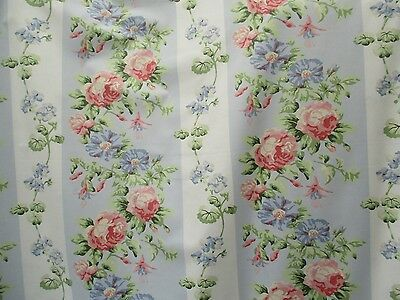 VINTAGE  LAURA ASHLEY Glazed Cotton  Rose design entitled CHINTZ