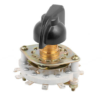 KCZ 1 Pole 11 Position 12 Terminal Band Channel Rotary Switch Selector with Cap