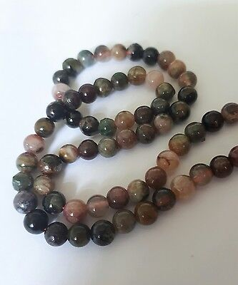 60cts of natural multi coloured tourmaline round gemstones new!