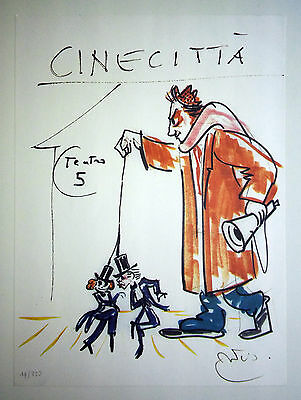 Federico Fellini - Cinecittà original sketch, 1985 - Limited Edition