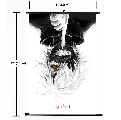Hot Anime Tokyo Ghoul Kaneki Ken Wall Poster Scroll Home Decor Cosplay 2346