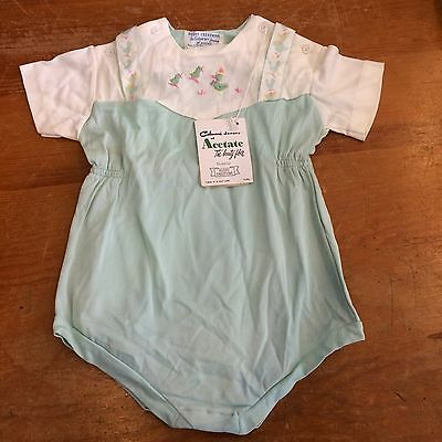 Nuday Creations Vintage 50s Girls 12-18 Month NWT Duck Embroidery Romper