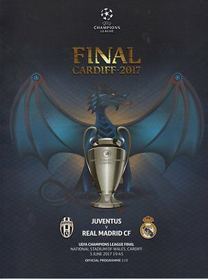 2017 Uefa Champions League Final - Juventus V Real Madrid & Free Poster