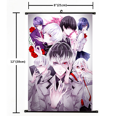 Hot Anime Tokyo Ghoul Wall Poster Scroll Home Decor Cosplay 2350