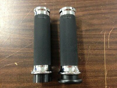 Avon Chrome Contour Grips For 1973 & Up Harley Davidson Models