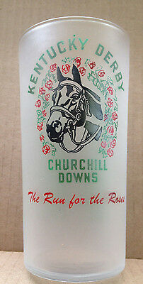 1953 Kentucky Derby Glass THE RUN FOR THE ROSES